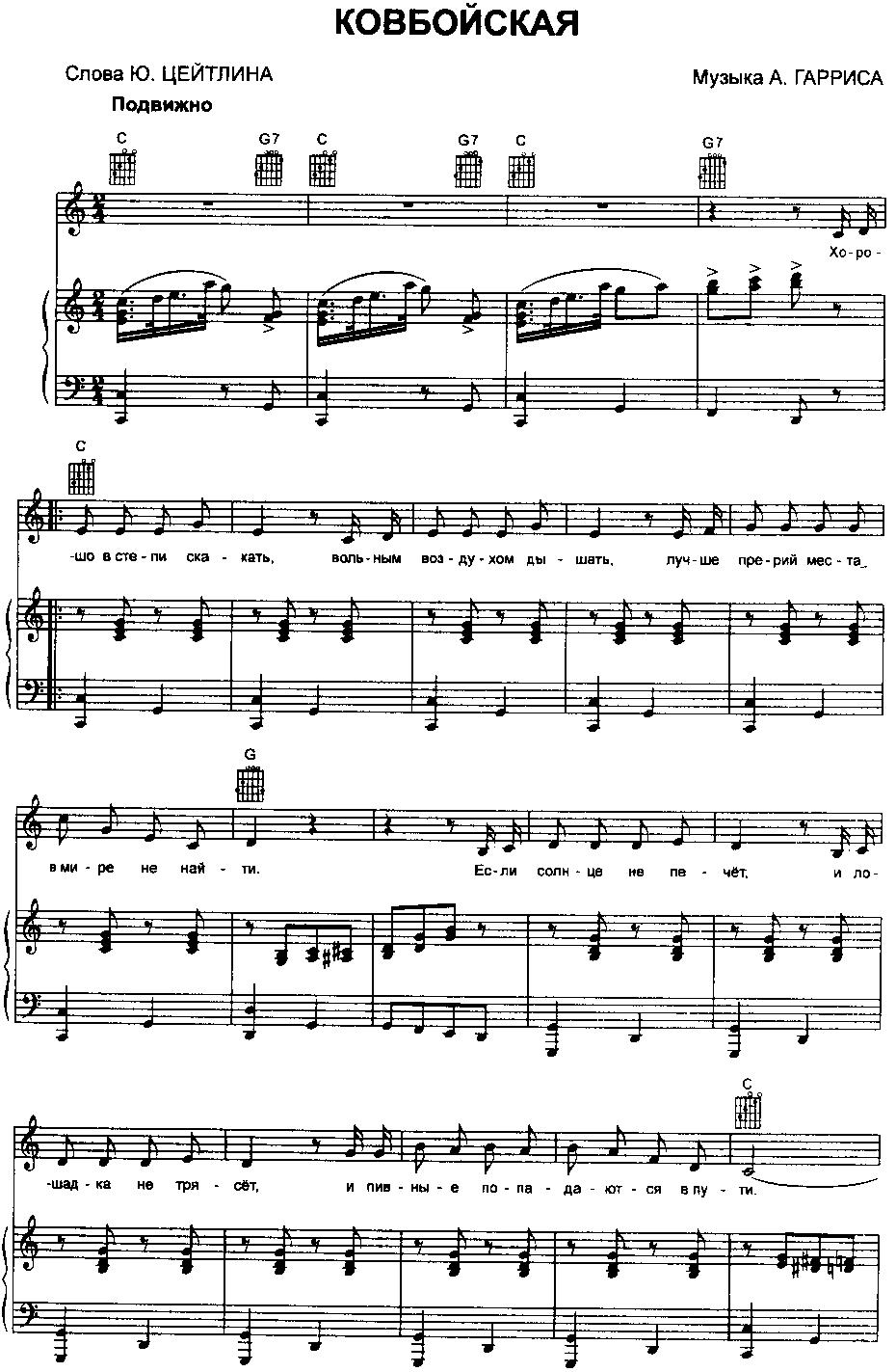 Ноты современных песен для