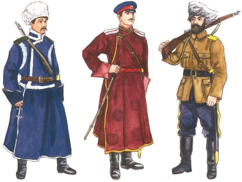 Рядовой татарского дивизиона и офицер