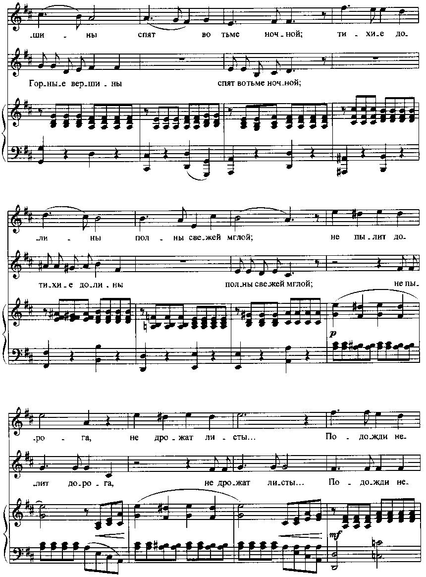 Рубинштейн антон григорьевич горные вершины ноты.