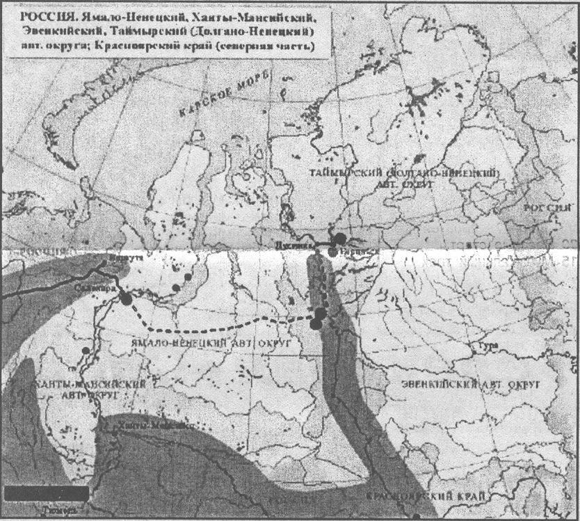 Карта железной дороги №№ 501,